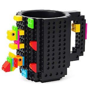 Caneca Bloquinhos Build on Brick Mug - Preta