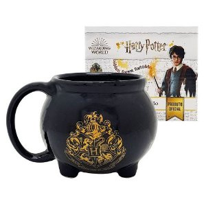 Caneca Porcelana 3D 500ml Caldeirão - Harry Potter