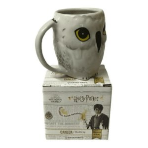 Caneca Porcelana 3D 250ml Edwiges - Harry Potter