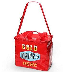 Bolsa Térmica  / Cooler Drink Gelado Grande Vermelho