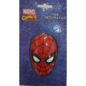 Imã Decorativo Relevo Marvel - Máscara Homem Aranha