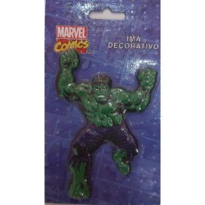 Imã Decorativo Relevo Marvel - Hulk Ação 2