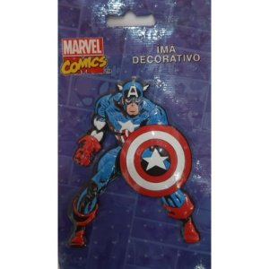 Imã Decorativo Relevo Marvel - Capitão America 3