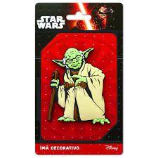 Imã Decorativo Relevo Star Wars - Mestre Yoda