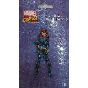 Imã Decorativo Relevo Marvel - Viuva Negra