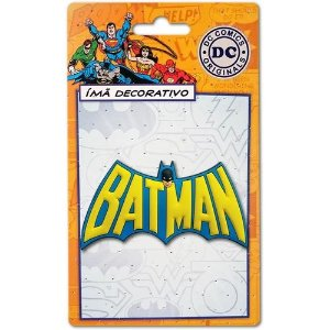 Imã Decorativo Relevo DC Comics - Batman Logo 60´s