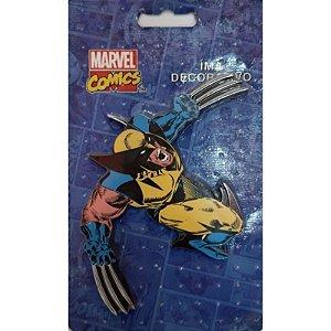 Imã Decorativo MDF Relevo Marvel Wolverine