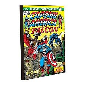 Imã Decorativo MDF Relevo Marvel - Capitão América Capa G