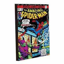 Imã Decorativo MDF Relevo Marvel - Homem Aranha Capa G