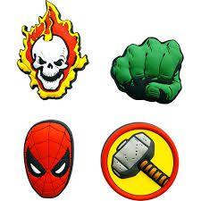 Conjunto com 4 Imãs Relevo Marvel - Icones 2