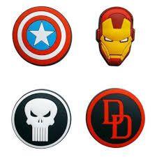 Conjunto 4 Imãs Decorativos Marvel - Ícones I