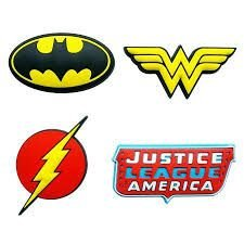 Conjunto 4 Imãs Relevo DC Comics - Icones