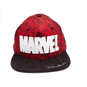 Boné Bordado Aba Reta Marvel Excelsior