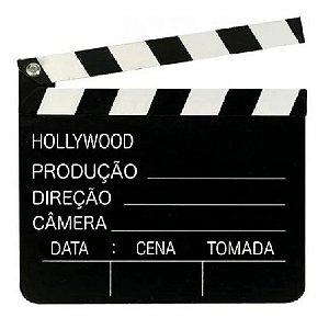Claquete Decorativa e Produção Cinema em MDF 30cm