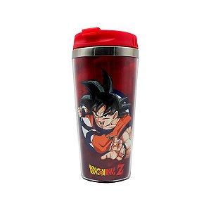 Copo Térmico de Viagem 450ml Símbolo Goku Rage - Dragon Ball