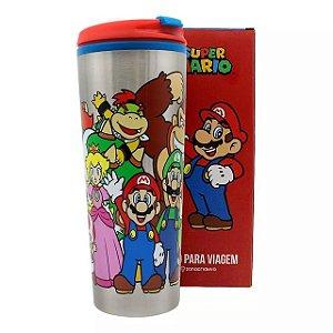 Copo para Viagem 500ml Mário Turma - Super Mario