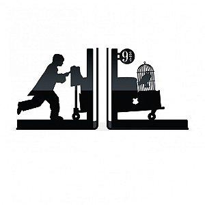 Porta Livros / Organizador Acrílico - Plataforma 9 3/4