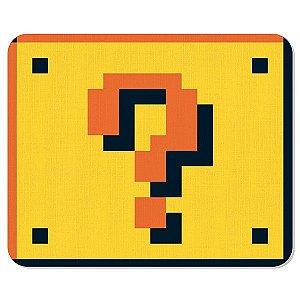 Mousepad em Neoprene Bloco de Interrogação - Super Mario