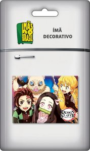 Imã Decorativo Foto Animes - Demon Slayer Turma