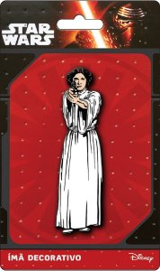 Imã Decorativo Relevo Star Wars - Princesa Leia