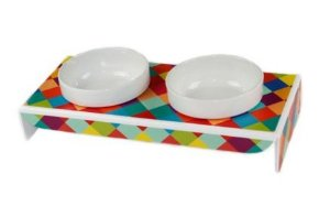 Comedouro Duplo Porcelana Colors Pet