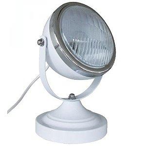 Luminária Refletor de Mesa Ferro Farol Fusca
