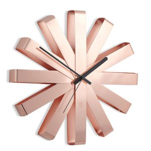 Relógio de Parede 30cm Ribbon Cobre - Umbra