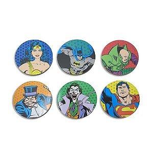6 Porta Copos DC Comics - Characters