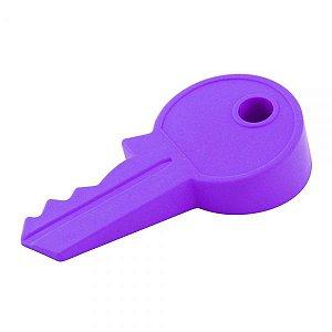 Trava Porta / Peso Porta Silicone Formato Chave 13cm Roxo
