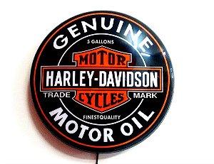 Luminoso de Parede Harley Davidson 40cm