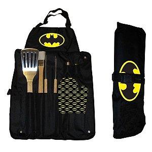 Kit Avental de Churrasco 7 Peças Batman - DC Comics