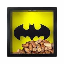 Quadro Madeira Porta Rolhas Vinho - Batman DC Comics