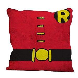 Almofada Aveludada Uniforme Robin