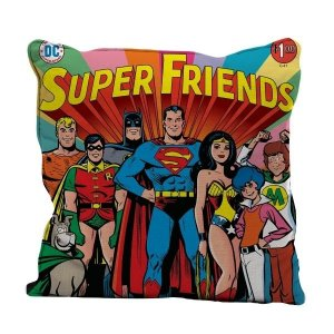 Almofada Aveludada Super Friends