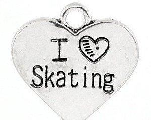"PINGENTE ""I LOVE SKATING"""
