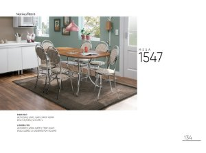 Linda Mesa de Jantar Carraro 6 Cadeiras Cromadas