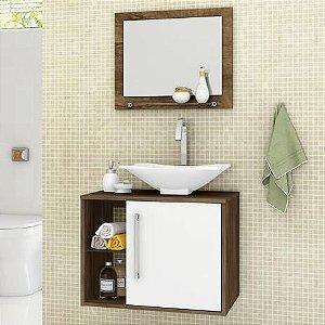 Gabinete para Banheiro com Espelheira e Cuba Baden