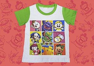 Camiseta Mosaico Jacarelvis e Amigos  (Infantil e Adulto)