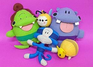 Kit Bonecos Fofos: Jacarelvis e Animais