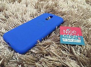 Capinha azul claro de silicone para Moto G4 Plus
