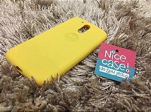 Capinha amarela de silicone para Moto G4 Plus