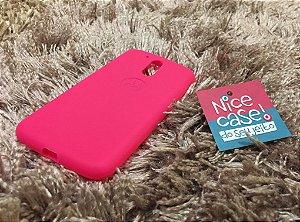 Capinha pink de silicone para Moto G4 Plus