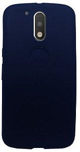 Capinha azul escuro de silicone para Moto G4 Plus