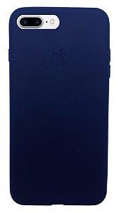 OFERTA! Capinha para iPhone 7 Plus  Silicone Flexível Azul Escuro