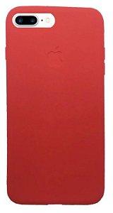 OFERTA! Capinha para iPhone 7 Plus Silicone Flexível Vermelha