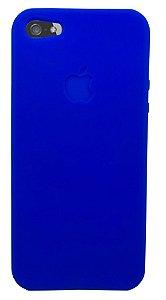 Capinha para iPhone 5s SE Silicone Flexível Azul