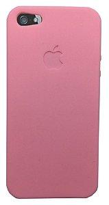 Capinha para iPhone 5s SE Silicone Flexível Rosa