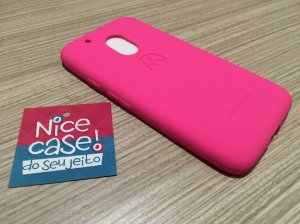 Capinha para Moto G4 Play - Silicone pink