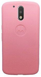 Capinha para Moto G4 Play - Silicone rosa