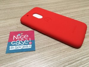 Capinha para Moto G4 Play - Silicone vermelha